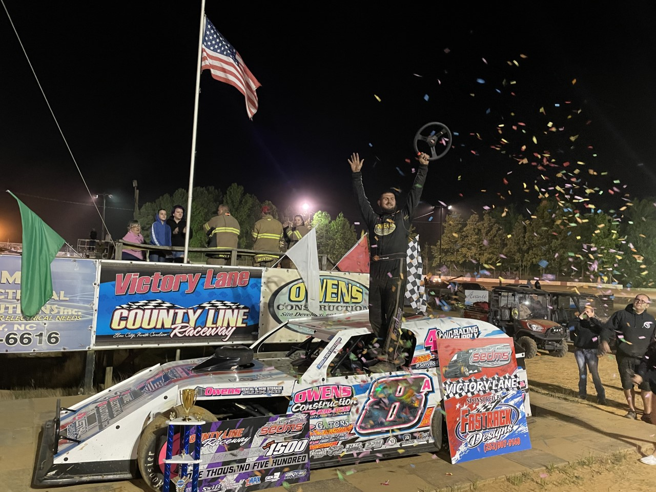 HOLCOMBE SWEEPS AT COUNTY LINE FOR FIRST SEDMS WIN